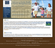 Family Wealth & Pension Management - Financial Website Design
