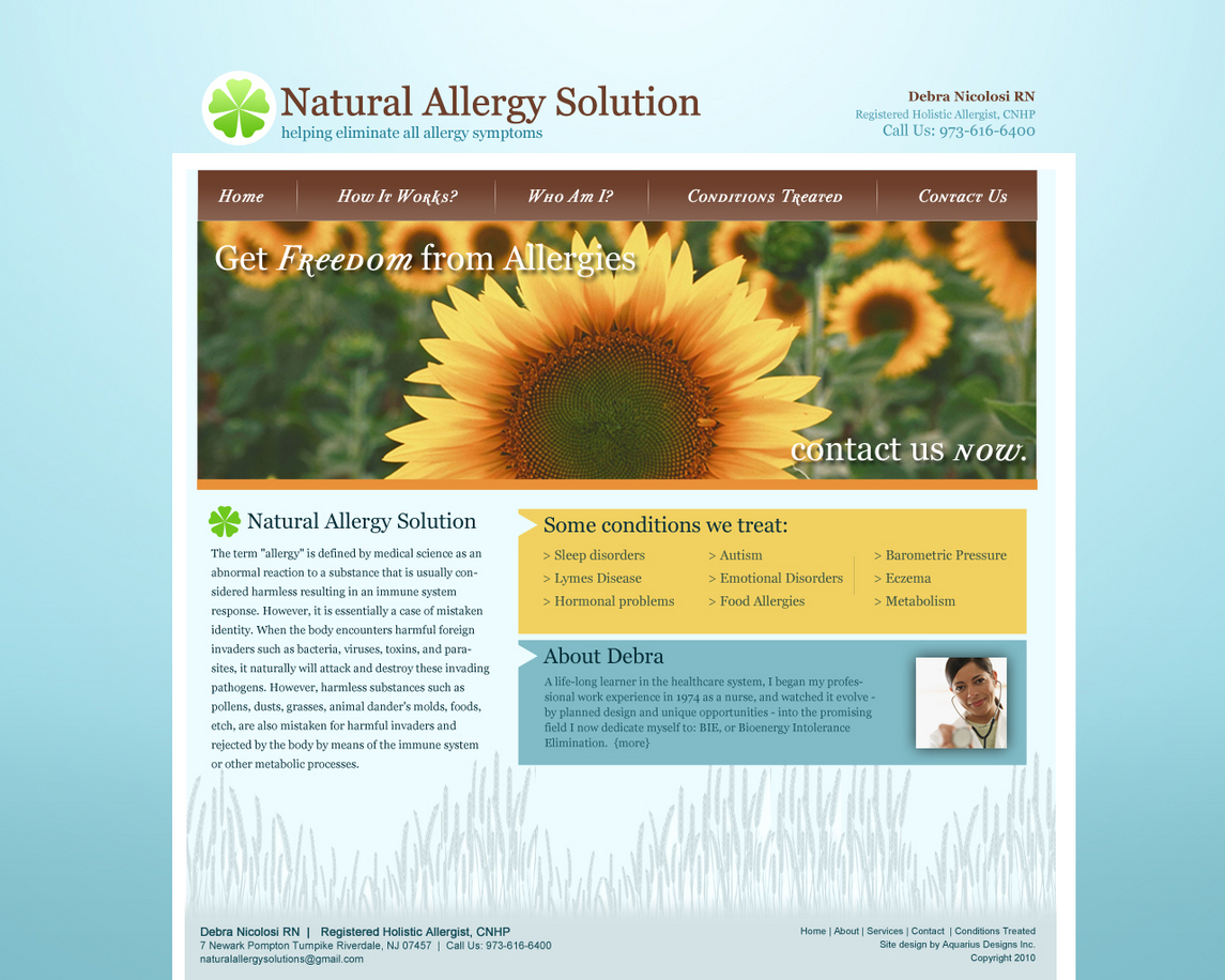 Natural Allergy Solutions - Healthcare Website Design