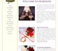Picholine - Food Website Design