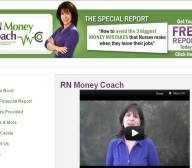 rn money coach financial website design
